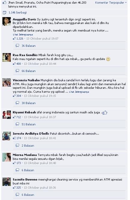 Komen FB Farah